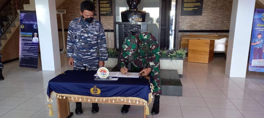 Danlantamal IV Tanjungpinang Terima Kunjungan Silaturahmi Danrem 033/WP