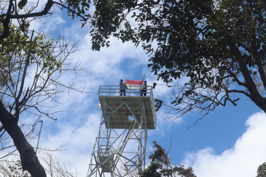 Jaga Kedaulatan Negara, Personil Polsek Bintan Timur dan Unsur TNI Lakukan Patroli Perbatasan di Pulau Sentut