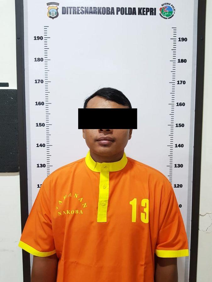 Miliki Ganja, Seorang Pria di Jalan Tembesi Lestari Berhasil Diringkus Dit Resnarkoba Polda Kepri