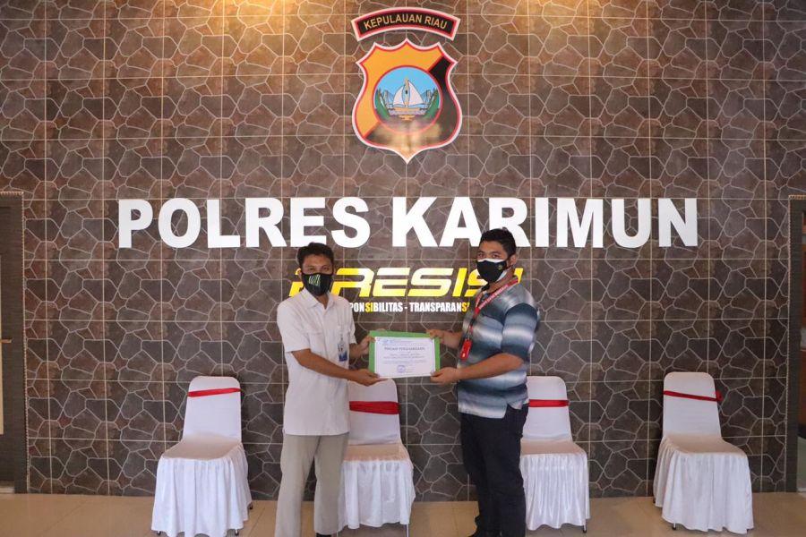 Polres Karimun Diberi Penghargaan Oleh BP2MI