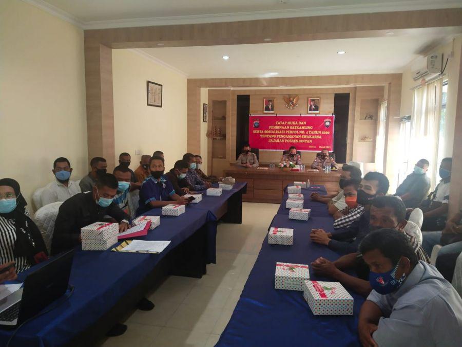 Wujudkan Situasi Kamtibmas, Polres Bintan berikan pembinaan Satkamling kepada Masyarakat
