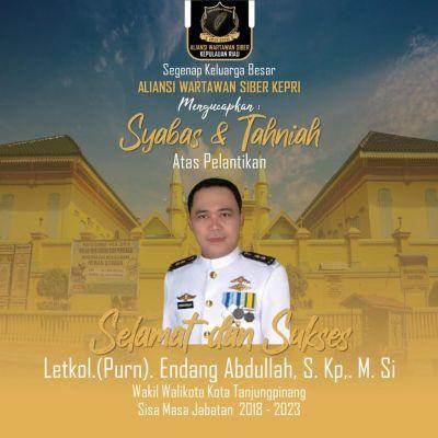 Besok dilantik Jadi Wawako Tanjungpinang, Endang Abdullah Enggan Gelar Syukuran