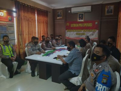 Jelang Perayaan Imlek, Polres Bintan Gelar Latpra Ops Liong Seligi 2021
