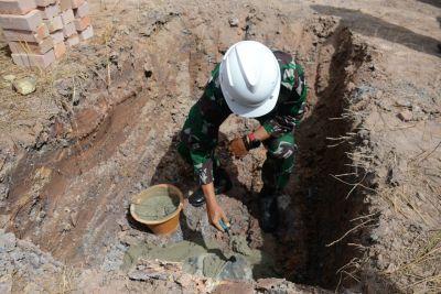 Wadan Lantamal IV Ikuti Peletakan Batu Pertama Pembangunan Taman Migas